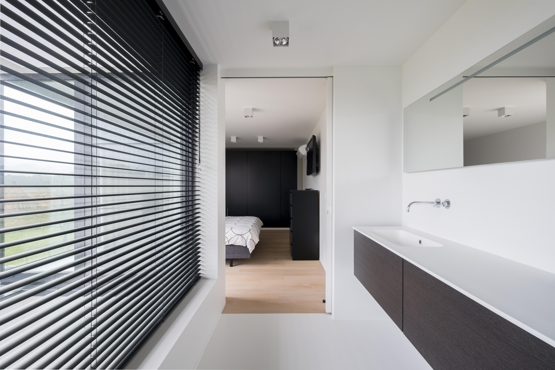 Design Bathroom With Coated Surface Mounted Sliding Door Brems Doors